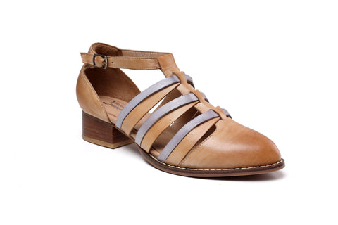 Clara Flat Heel Leather Sandals Women Shoes - Vicenzo Leather - Designer