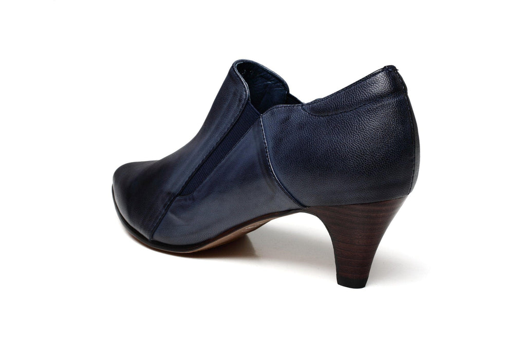 Julie Low Heel Pointed Leather Shoes Women Shoes - Vicenzo Leather - Designer