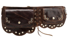 Nieve Chic Genuine Leather Fanny Pack/ Waist Pack - Dark Brown waist pack - Vicenzo Leather