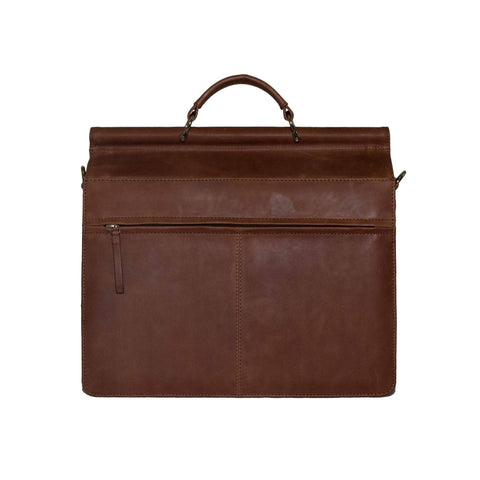 Rushmore Full Grain Leather Briefcase Laptop Bag briefcase - Vicenzo Leather - Designer