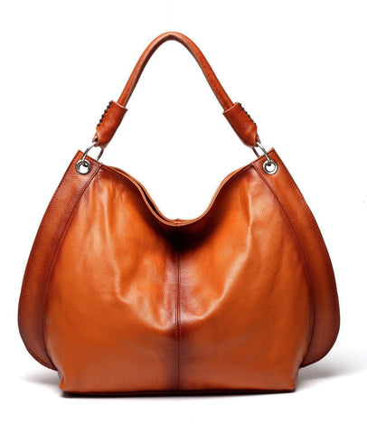 Camelia Tote Leather Handbag - Brown Handbags - Vicenzo Leather - Designer