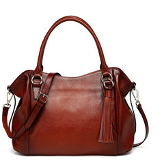 Adona Leather Handbag - Red Handbags - Vicenzo Leather