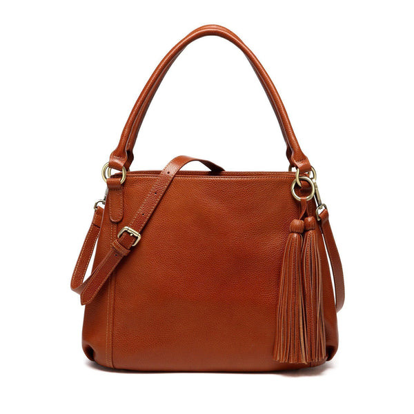 Maddison Leather Shoulder Handbag - Brown Handbags - Vicenzo Leather - Designer