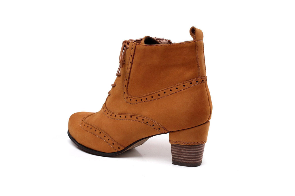 Ida Chunky Low Heel Women Leather Boots Women Shoes - Vicenzo Leather - Designer