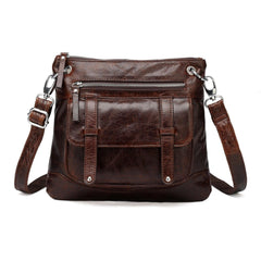 Ella Distressed Leather Crossbody / Handbag - Dark Brown Handbags - Vicenzo Leather