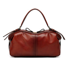 Ellen Top Handle Leather Handbag - Red Handbags - Vicenzo Leather