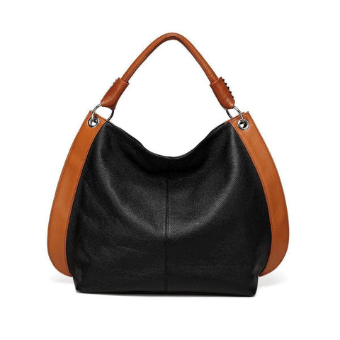 Camelia Tote Leather Handbag - Black Handbags - Vicenzo Leather - Designer