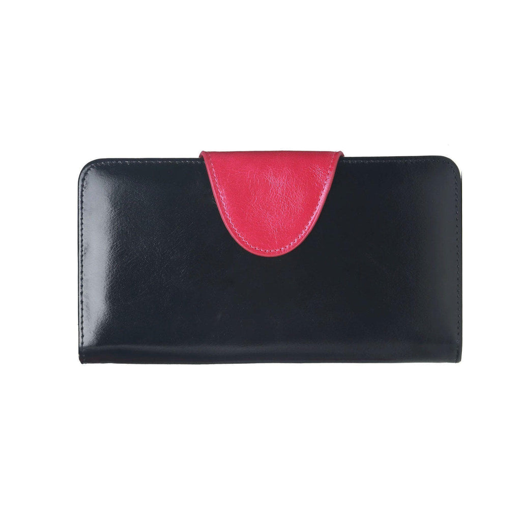 Maine Distresed Leather Coin Purse / Womens Wallet - Black Wallets - Vicenzo Leather - Designer