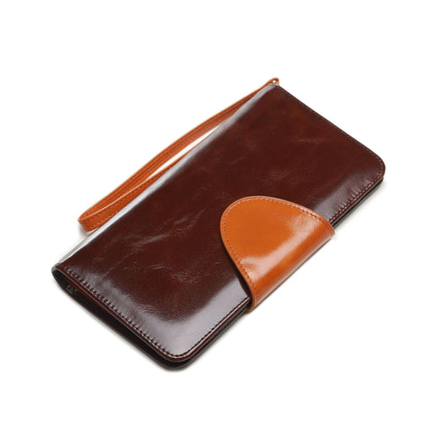 Maine Distresed Leather Coin Purse / Womens Wallet - Brown Wallets - Vicenzo Leather - Designer