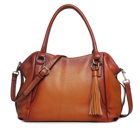 Adona Leather Handbag - Brown Handbags - Vicenzo Leather - Designer
