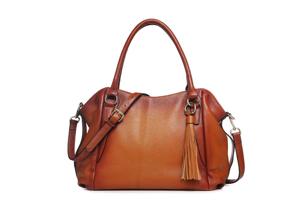 Adona Leather Handbag - Brown Handbags - Vicenzo Leather