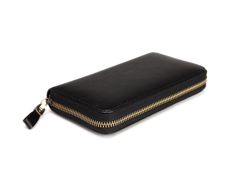 Seattle Distressed Leather Compact Wallet-Black Wallets - Vicenzo Leather - Designer