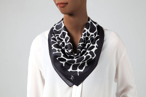 Vicenzo Leather Grace Silk Scarf