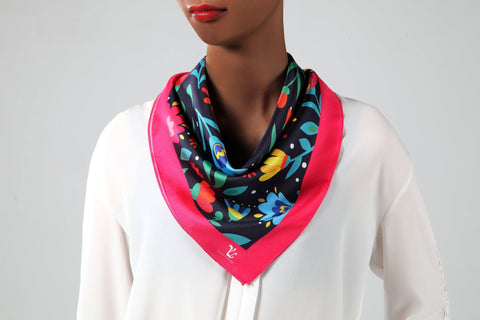 Vicenzo Leather Chara Silk Scarf