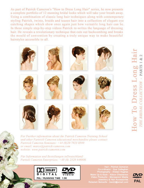 How to Dress Long Hair - The Bridal Collection Parts 1 & Part 2 - Back Cover