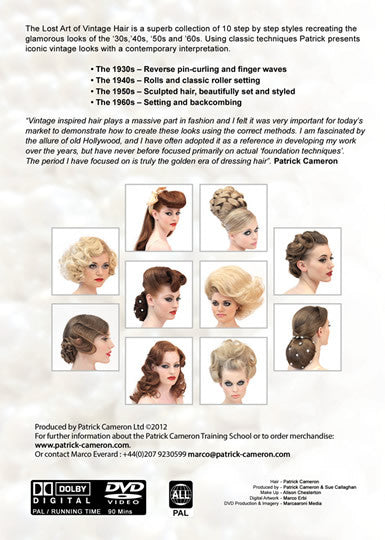 The Lost Art Of Vintage Hair - Back Cover