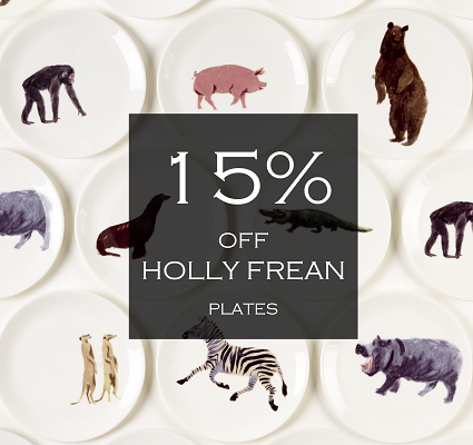 15% off Holly Frean Plates