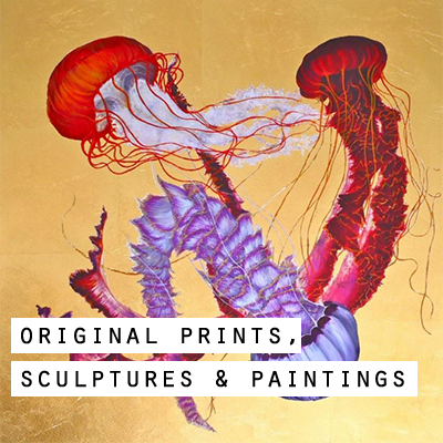 Original Prints, Sculptures, and Paintings