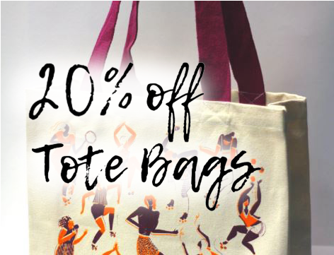 20% off Tote Bags