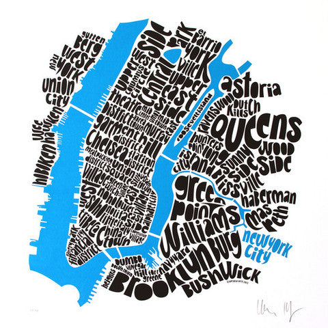 Map of NYC by Ursula Hitz