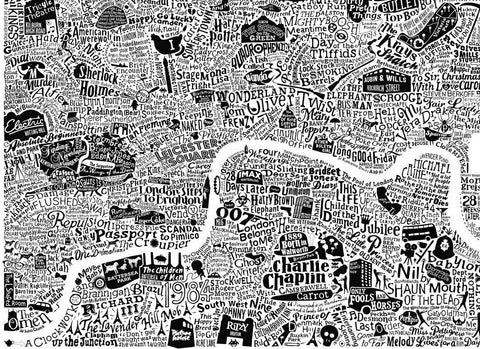 Film London Map by Run for the Hills