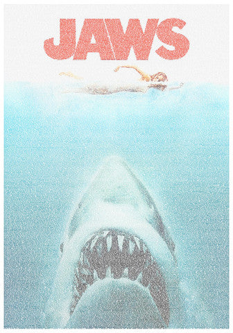 Jaws film poster by Robotic Ewe