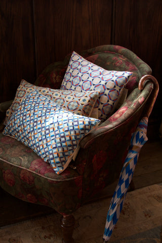 Cushions from Nitin Goyal and umbrella by David David