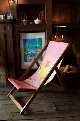 Banana deckchair and California Dreaming print by Yoko Honda.
