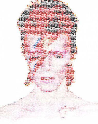 Celebrity Art: David Bowie Space Invading Oddity by Robotic Ewe