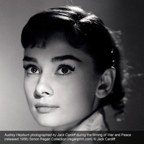 Audrey Hepburn photographed by Jeck Cardiff during the filming of War and Peace