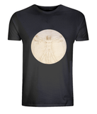 Leonardo Da Vinci: The Proportions Of The Human Figure (detail) T-Shirt - CultureLabel - 4