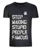 Stop Making Stupid People Famous (Black) - Plastic Jesus - CultureLabel