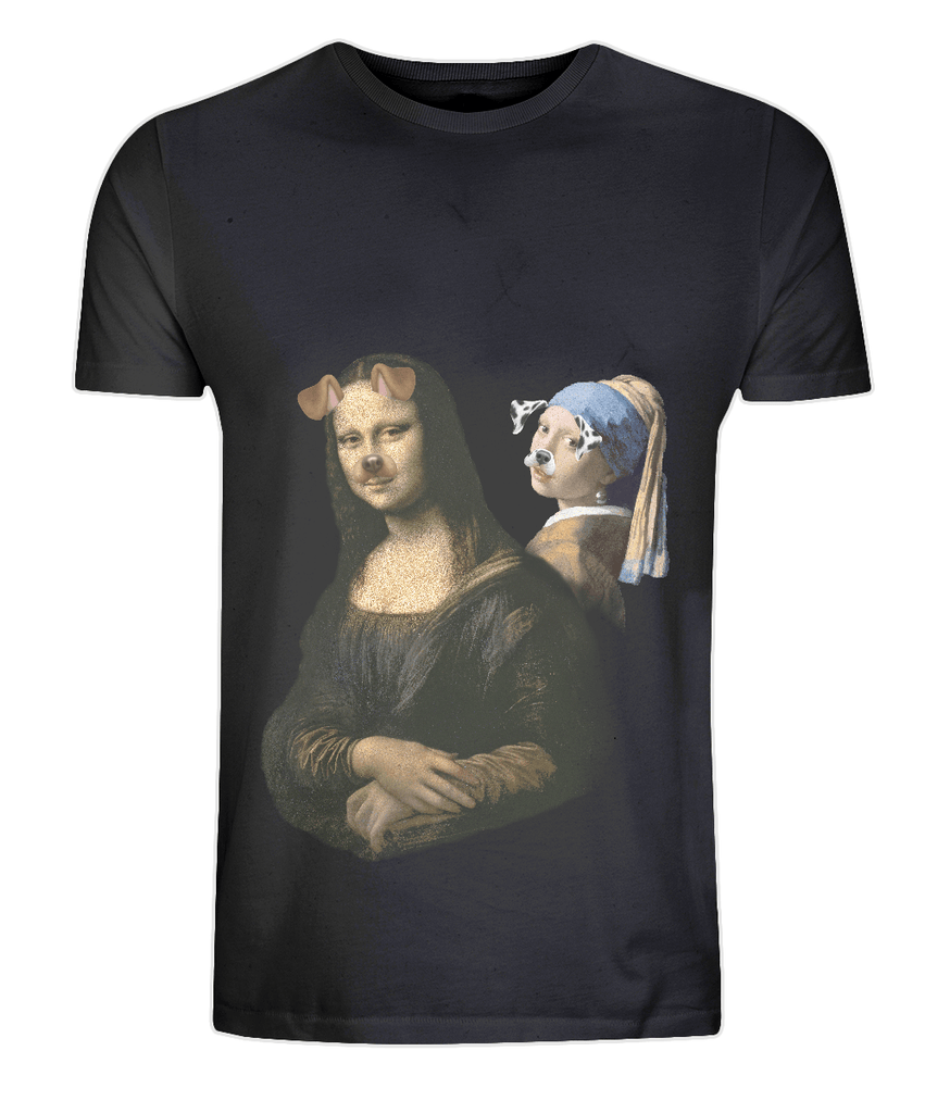 CultureLabel Collective: Mona Lisa & The Girl With The Pearl T-Shirt - CultureLabel - 1