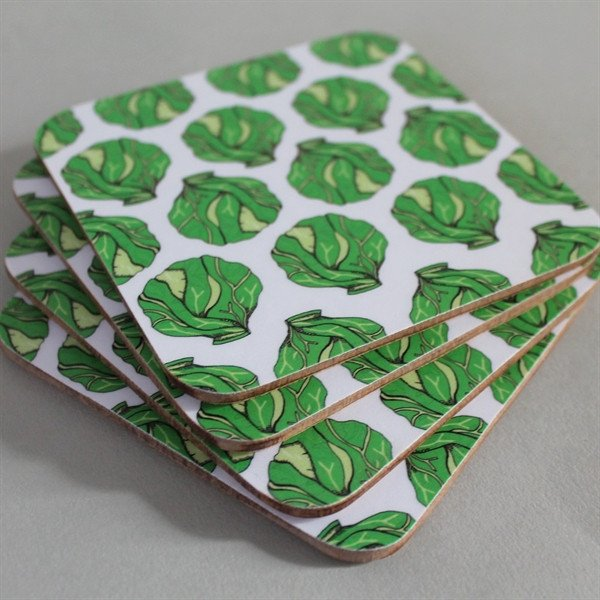 Christmas Sprout Coaster Set, Martha & Hepsie - CultureLabel - 1