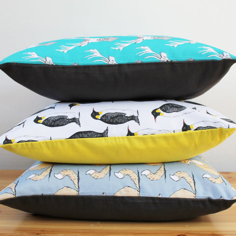 Penguin Party Cushion, Martha & Hepsie Alternate View