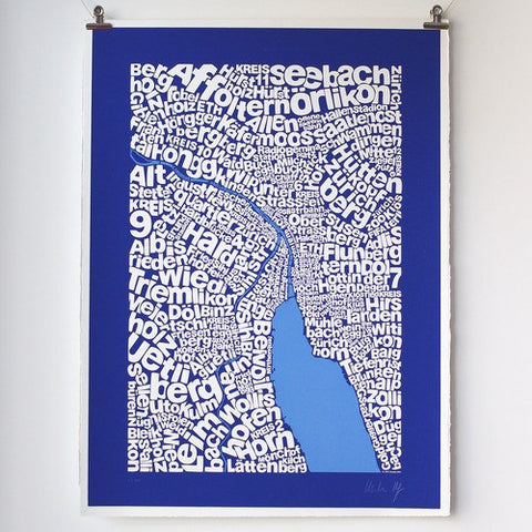 Map of Zürich, Ursula Hitz - CultureLabel - 1 (hung)