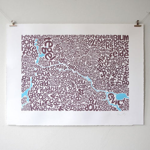 Map of Berlin, Ursula Hitz - CultureLabel