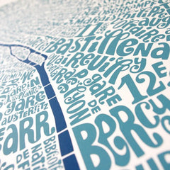 Map of Paris blue/dark blue, Ursula Hitz Alternate View
