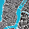 Map of NYC - small, Ursula Hitz - CultureLabel - 2 (crop- close up of centre)