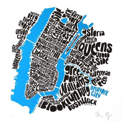 Map of NYC - small, Ursula Hitz - CultureLabel - 1 (full image)