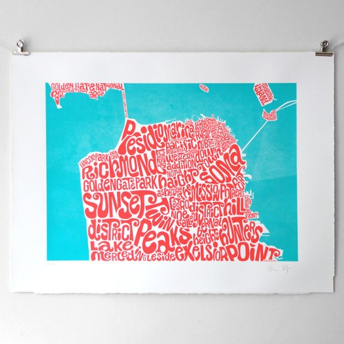 Map of San Francsico, Ursula Hitz - CultureLabel - 1 (hung)