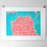 Map of San Francsico, Ursula Hitz - CultureLabel
