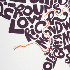 Map of London Boroughs, Ursula Hitz Alternate View