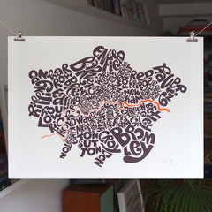 Map of London Boroughs, Ursula Hitz