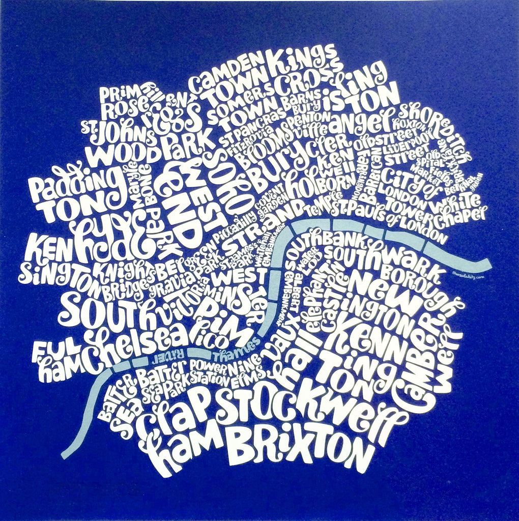 Map of Central London, Ursula Hitz - CultureLabel - 1