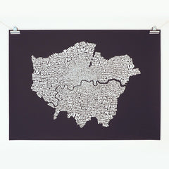 Map of Greater London, Ursula Hitz Alternate View