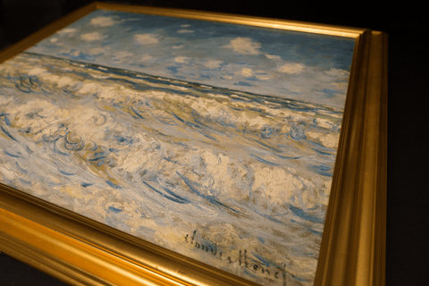 A Stormy Sea by Claude Monet 3d Reproduction, Versus Art Alternate View