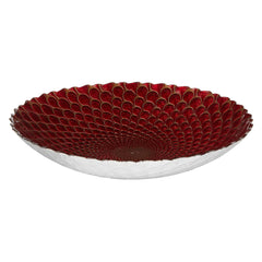 Red Glass Peacock Bowl, The National Gallery Alternate View