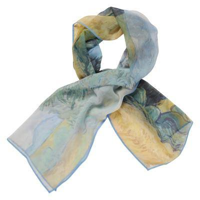 Wheatfield Georgette Silk Scarf, The National Gallery - CultureLabel