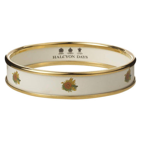 Cream Enamel Sunflowers Bangle, The National Gallery - CultureLabel